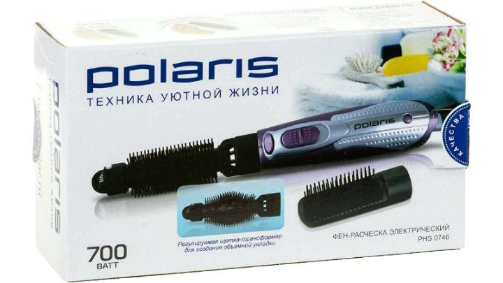 Фен-щетка Polaris